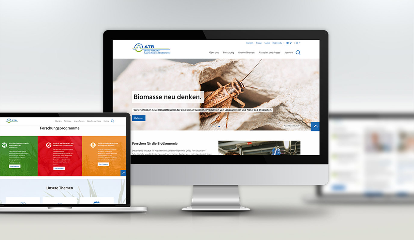 Website für Leibniz-Institut für Agrartechnik und Bioökonomie