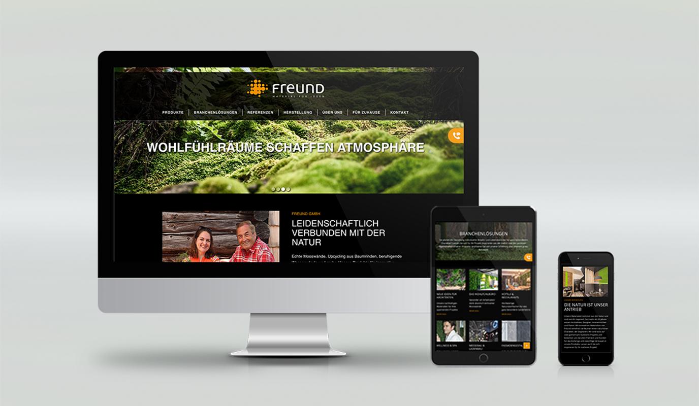 Website für Freund GmbH
