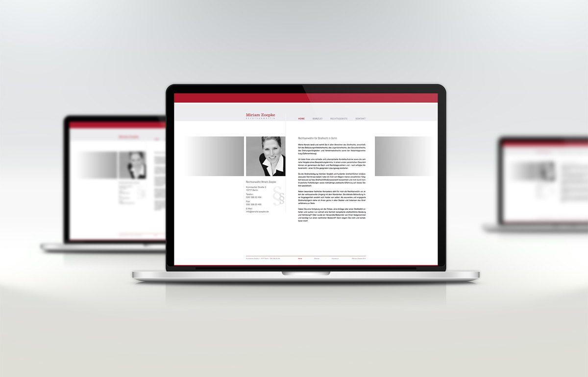 Website für Rechtsanwältin Miriam Zoepke
