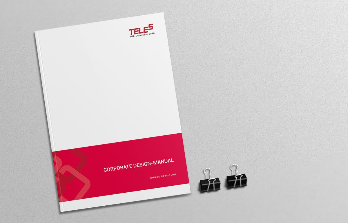 Corporate Design Manual für die TELES FMC+C Innovations GmbH