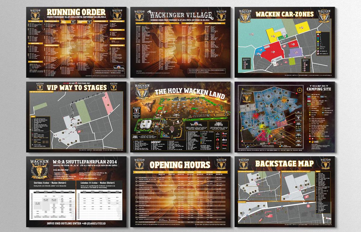 Wacken Open Air Festival Printprodukte Fanpläne