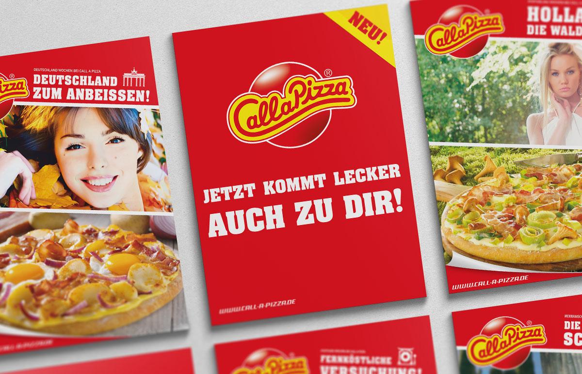 Flyer für Call a Pizza, PPAM Werbeagentur Berlin Lichterfelde