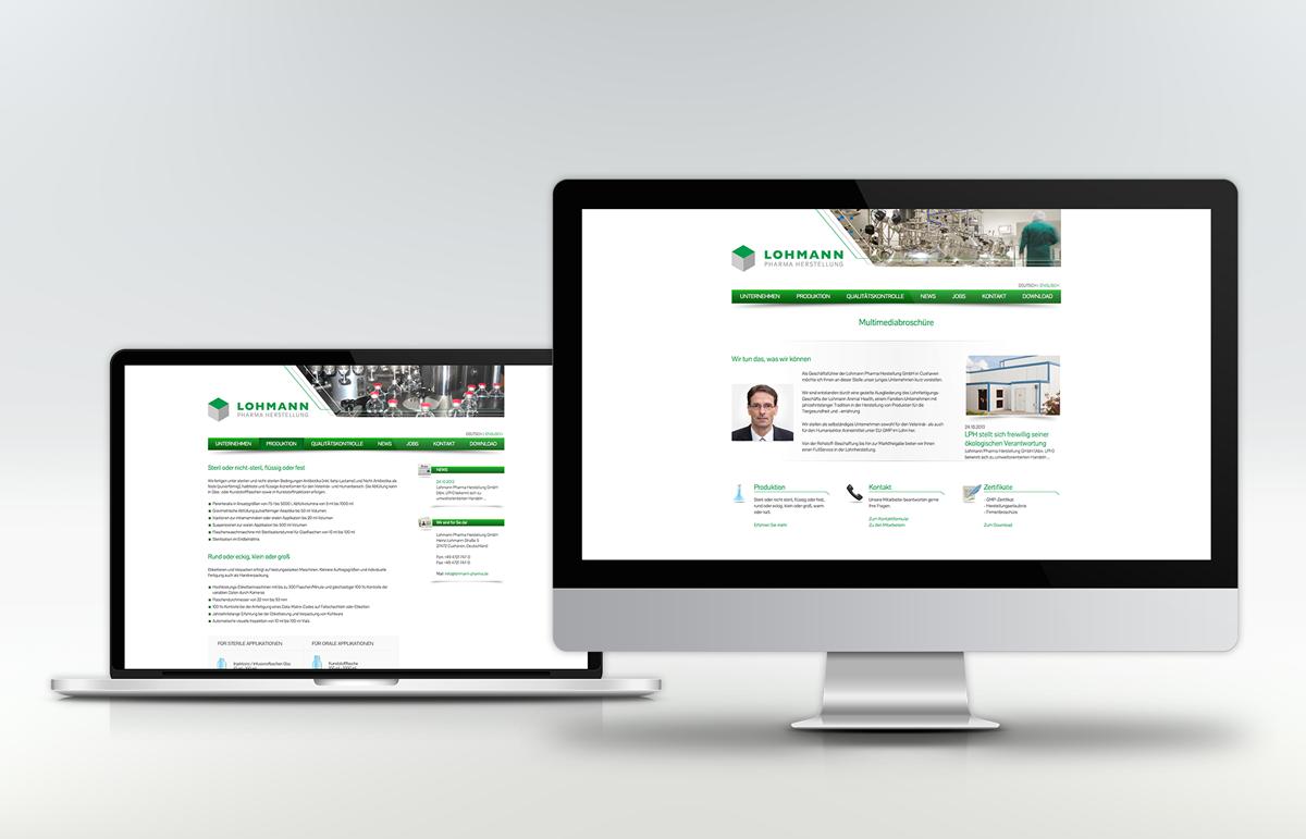Lohmann Pharma Herstellung, Webseite. PPAM Werbeagentur Berlin Lichterfelde