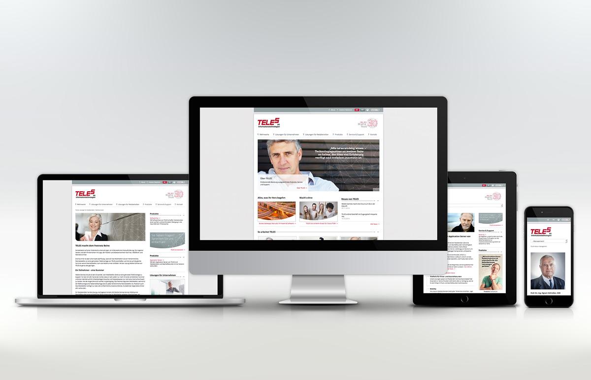 TELES AG Informationstechnologien, Website. PPAM Werbeagentur Berlin Lichterfelde