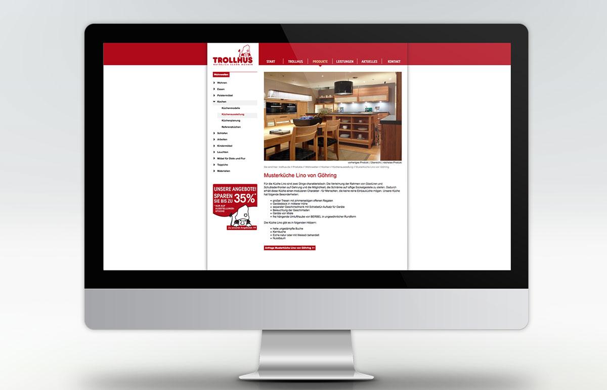 Webseite für Trollhus, PPAM Werbeagentur Berlin Lichterfelde